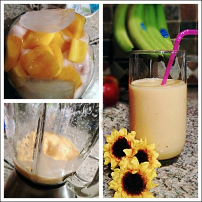 starwberry banana mango smoothie